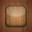 Vector wooden icon on wooden background. Eps10