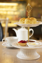 scones and tea set