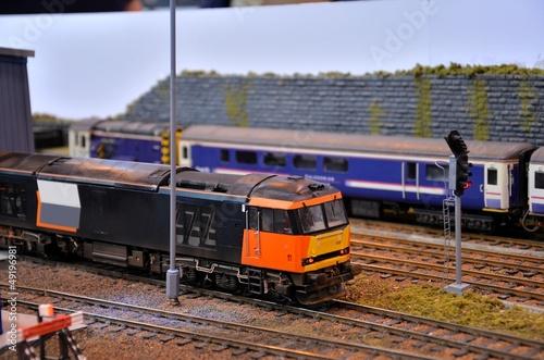 Diesel electric model train engine