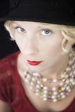 Wealthy Seductive Woman looking right at you ! poster