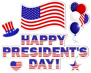 President's Day stickers.