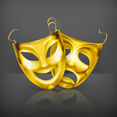 Gold theater masks