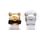 Fototapety Marriage concept two cute pigs