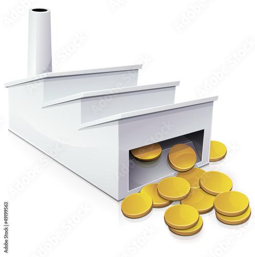 Gros profit et bénéfice d'une usine (reflet)
