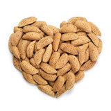 Fototapety Almonds heart. Health concept.
