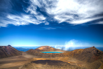 Lake Blue Tongariro in Neuseeland