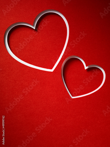 Valentine day card paper cutting design, papercraft.