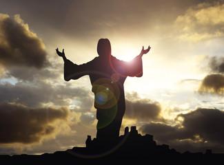 jesus arms raised 1