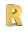 buchstabe letter R gold vertikal