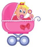 Baby carriage theme image 4