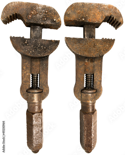 Old Rusty Wrench 2 sides