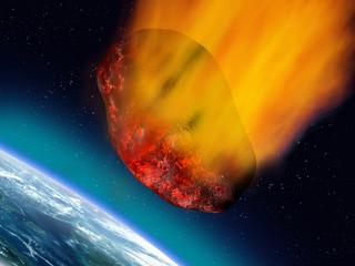 Plummeting asteroid