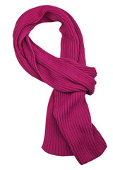 Bright and stylish scarf isolated on white