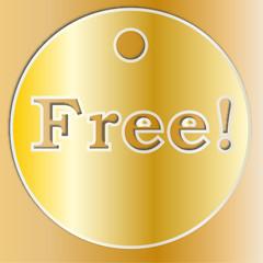 Medaglia Free dorata