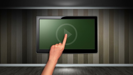 Room and Television, Green Screen and Alpha Channel