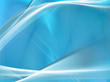 Elegant light waves on gentle blue background