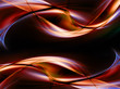 New abstract red waves on black background