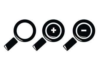 loupe icon set