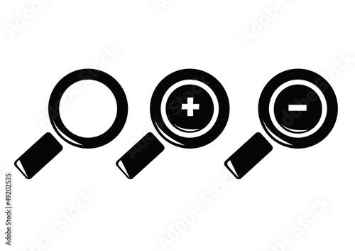 loupe icon set