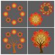 Autumn symbols