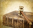 gavel over book