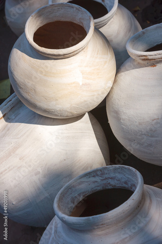 Clay pots for sale. India