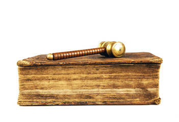 judges hammer and book