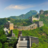 Fototapety Great Wall of China in Summer with beautiful sky