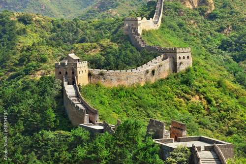 Foto op Canvas Beijing Chinese Great Wall in Summer