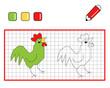 colora il gallo