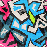 Fototapete Graffiti - Nahtlos - Synthetisch