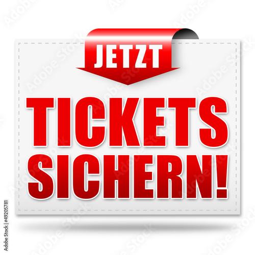 Jetzt Tickets sichern! Button, Icon