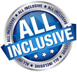 "Button Banner ""All Inclusive"" Blue/Silver"