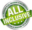 "Button Banner ""All Inclusive"" Green/Silver"