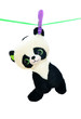 Toy panda on the clothes line