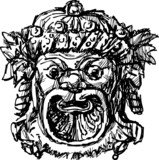 ancient drama mask poster
