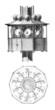 Leinwanddruck Bild - Lighthouse Lightings - Éclairage de Phare - 19th century