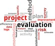 word cloud - project evaluation