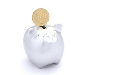 豚 貯金箱 500円