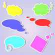 Set of speech bubbles in vector