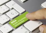 MBA Master of Business Administration tastatur Finger poster