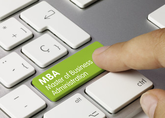 MBA Master of Business Administration tastatur Finger