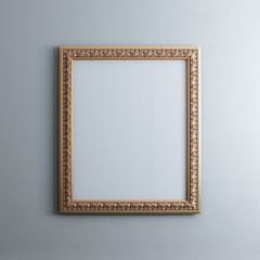 Classic Frame On White Wall (Rectangle Vertical Version)