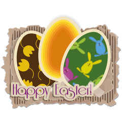 Happy Easter background - Eggs - Buona  Pasqua