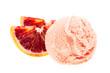 Blutorangeneis von vorne mit Orangenspalten