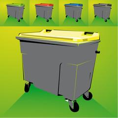 Bacs poubelles tri sélectif