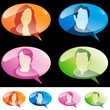People Speech Bubbles