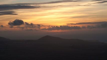 Timelapse del tramonto a Lanzarote