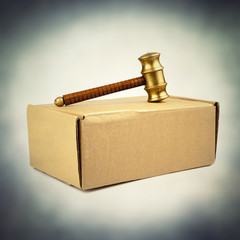 auctioneer hammer on box