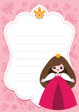Little princess card template with blank space for text